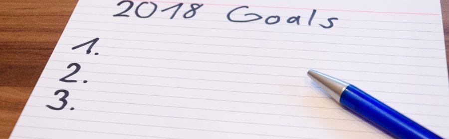 Liste mit der Aufschrift 2018 Goals